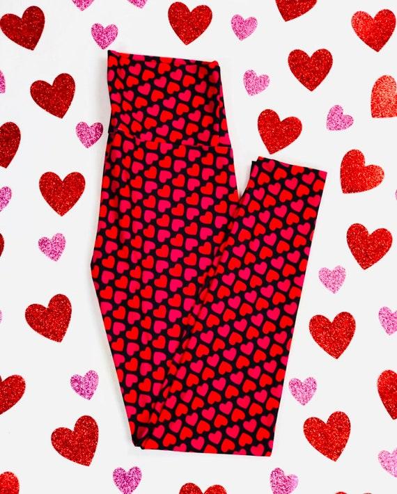 Sweet Heart Valentines Day Leggings