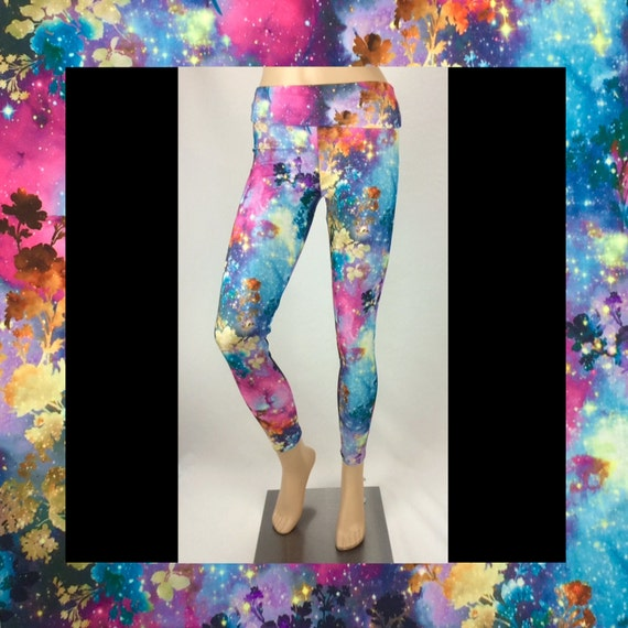 Pink Galaxy Fields Forever Leggings