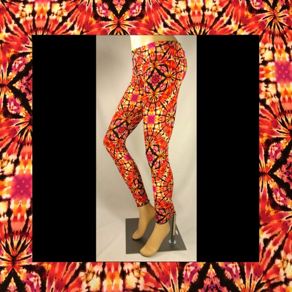 SALE **Kaleidoscope Tie Dye Leggings** yoga leggings / festival leggings / rave pants / workout clothing