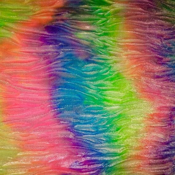 Rainbow Unicorn Velvet Skater Skirt