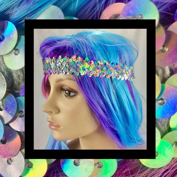 Rainbow Goddess Holographic Headband