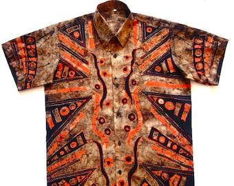 5825ca0a06abc Mens batik shirt   Etsy