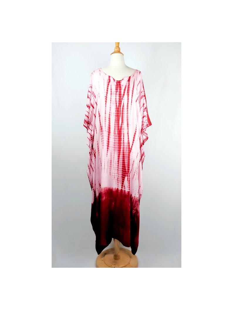 Caftan beachwear maroon dress tie dye cotton caftan hand dyed kaftan tie dye kaftans kaftans Kaftan dress caftan dress long kaftan