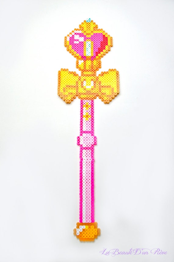 Items Similar To Sailor Moon Heart Staff Wand Pixel Art 8