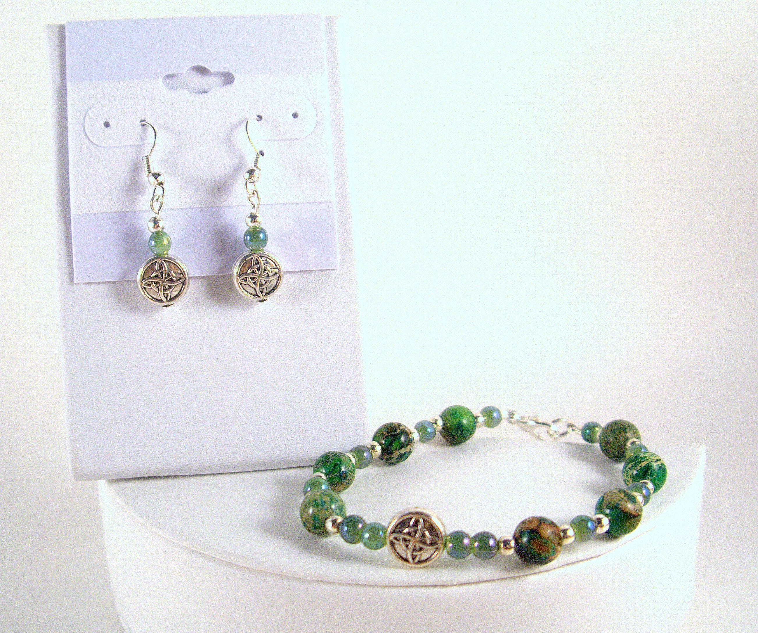 fa71197b5 Celtic Knot Charm Irish Bracelet & Earrings - Celtic Charms Irish Earrings Celtic  Bracelet -Saint Patricks Day Good Luck Jewelry Irish Gifts