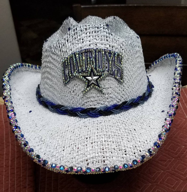 94369ef3541ec6 Dallas Cowboy bling Cowboy Hat | Etsy