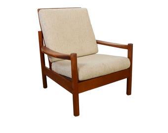 Teak Lounge Chair By Grete Jalk Danish Modern Glostrup Etsy