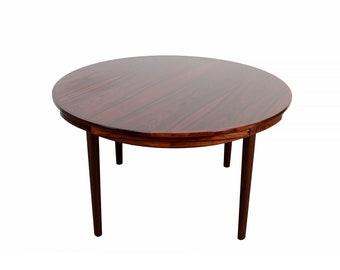 Rosewood Flip-Flap Lotus Dining Table by Dyrlund Danish Modern