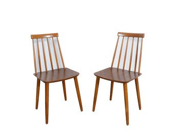 Danish Modern Dining Chair Billund Stolefabrik Set of 4 Chairs