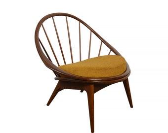 IB Kofod Larsen Hoop Lounge Chair Selig Møbelfabrik Danish Modern