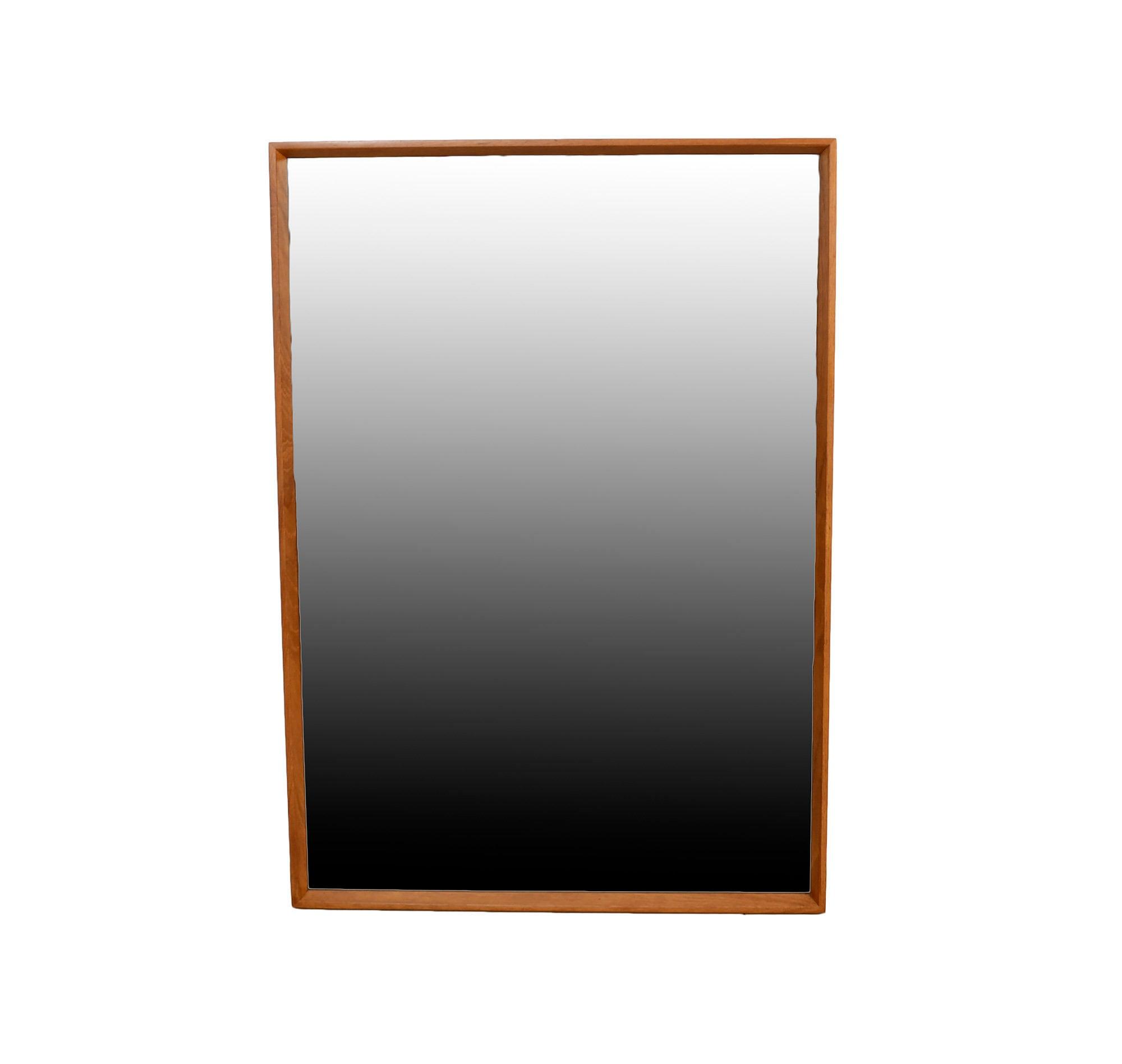 Teak Mirror Large Teak Mirror Danish Modern by HearthsideHome