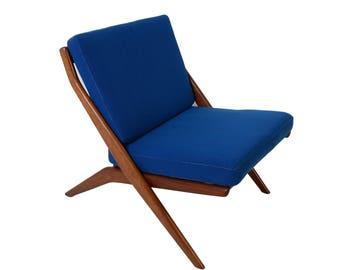 Dux Scissor Chair Lounge Chair Folke Ohlsson  Danish Modern