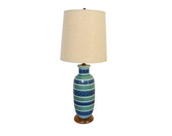 Bitossi Style Table Lamp Large Lamp Mid Century Modern