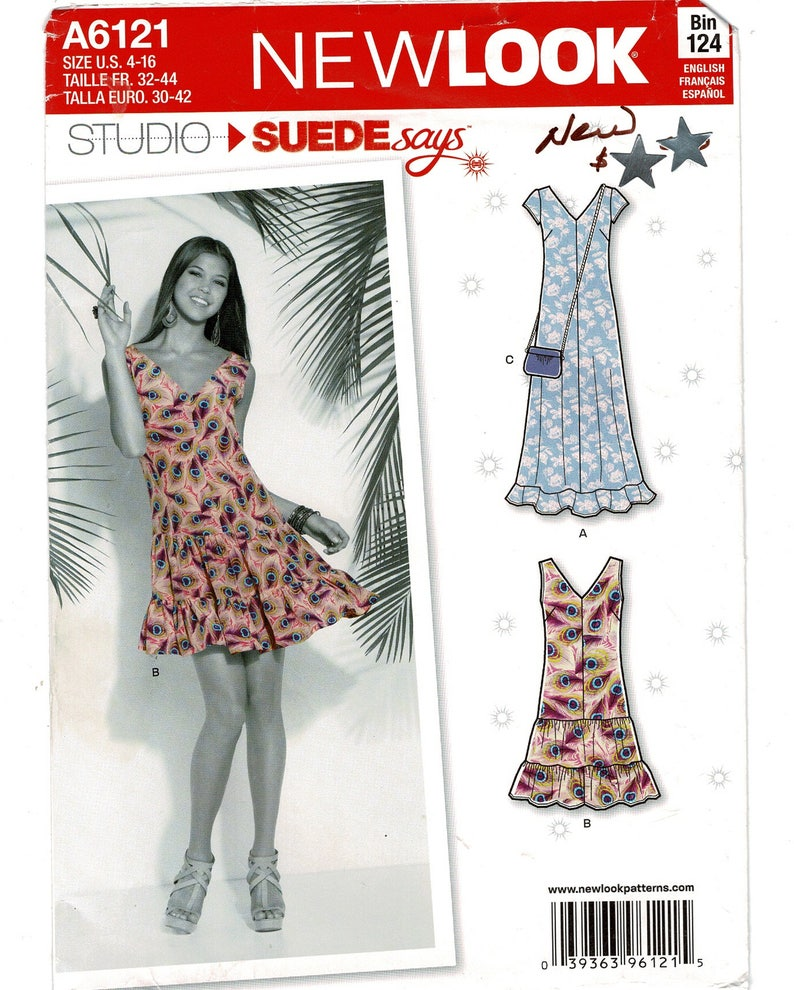 7d5aeeaebb4 New Look 6121 Swingy Dress Sewing Pattern for Women in 2