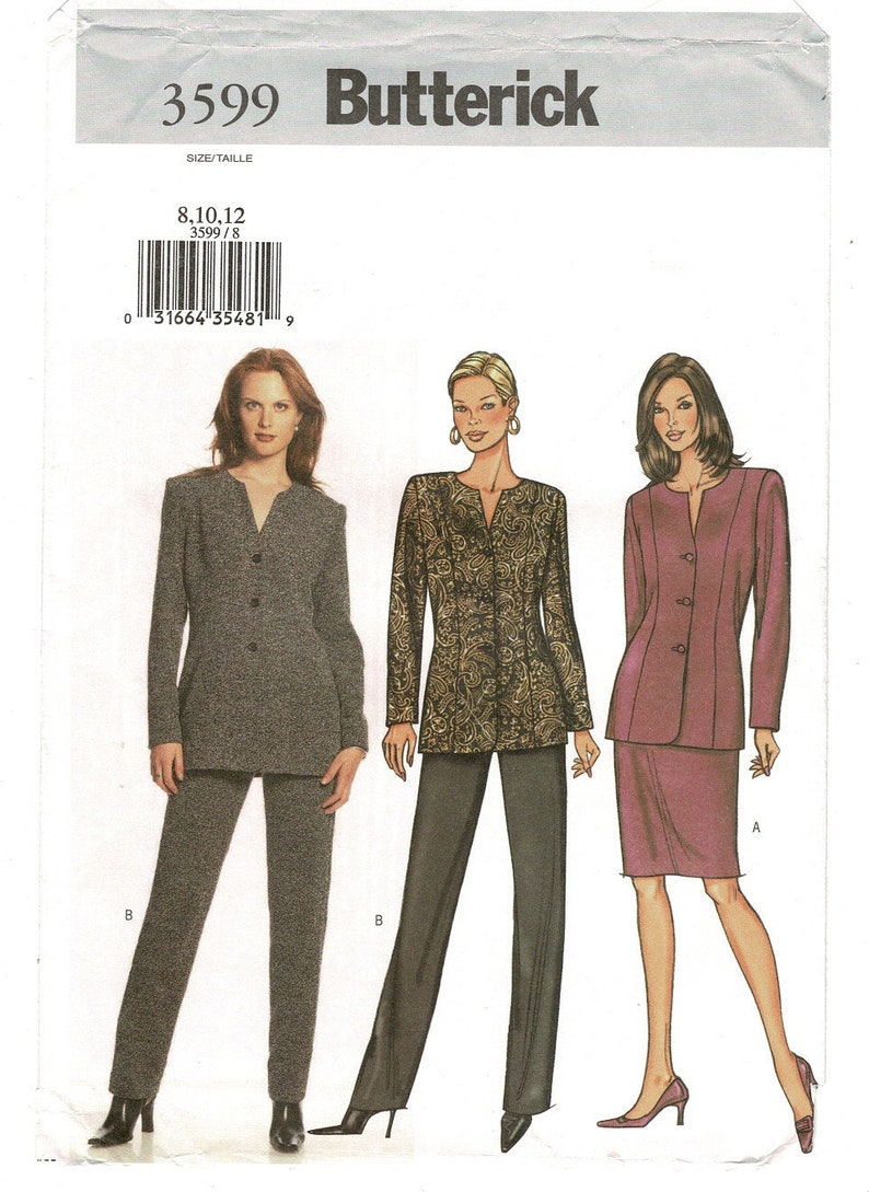 Misses Easy Loose Fit Princess Seam Jackets Butterick Sewing Pattern Size 6 8 10