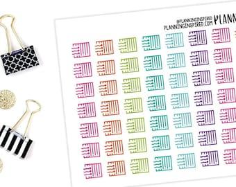 Mini icon TN Stickers Bujo stickers d3 Checkmark TINY dots planner stickers