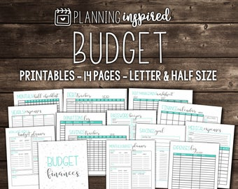 budget planner printable budget planner inserts letter size etsy
