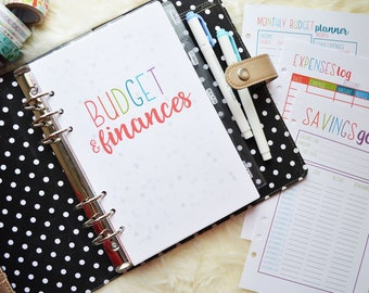 A5 Budget Inserts, Printed Planner Inserts, Budget Planner, A5 Budget Planner, Financial Planner, Budget Planner Inserts, HALF LETTER