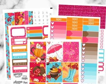 Fall Weekly Sticker Kit, Erin Condren Weekly Kit, Fall, Sweet Fall Weekly Sticker Set, Weekly Planner Sticker Set