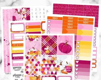 Thanksgiving Weekly Sticker Kit, Erin Condren Weekly Kit, Thankful Weekly Sticker Set, Weekly Planner Sticker Set