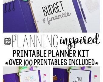 Household Binder Set, Household Planner, Printable Planner Kit, Budget Planner, Meal Planner, Mom Planner, Home Organization