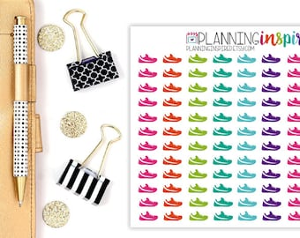 Fitness Planner Stickers, Set of 132 Workout Stickers, Fitness Stickers, Exercise Planner Stickers, Exercise Stickers