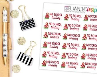 No School Planner Stickers, School Stickers, set of 20 Planner Stickers