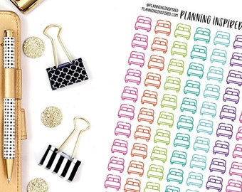 Bed Icon Stickers, Wash the Sheets Stickers, Make Bed Stickers, Set of 104 Bed Icon Planner Stickers
