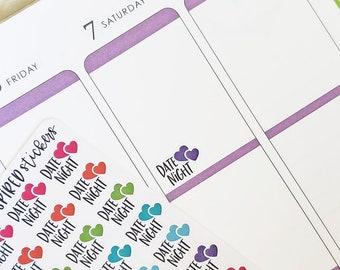 Date Night Stickers, Date Night Planner Stickers, Set of 78 Date Night Stickers for your planner