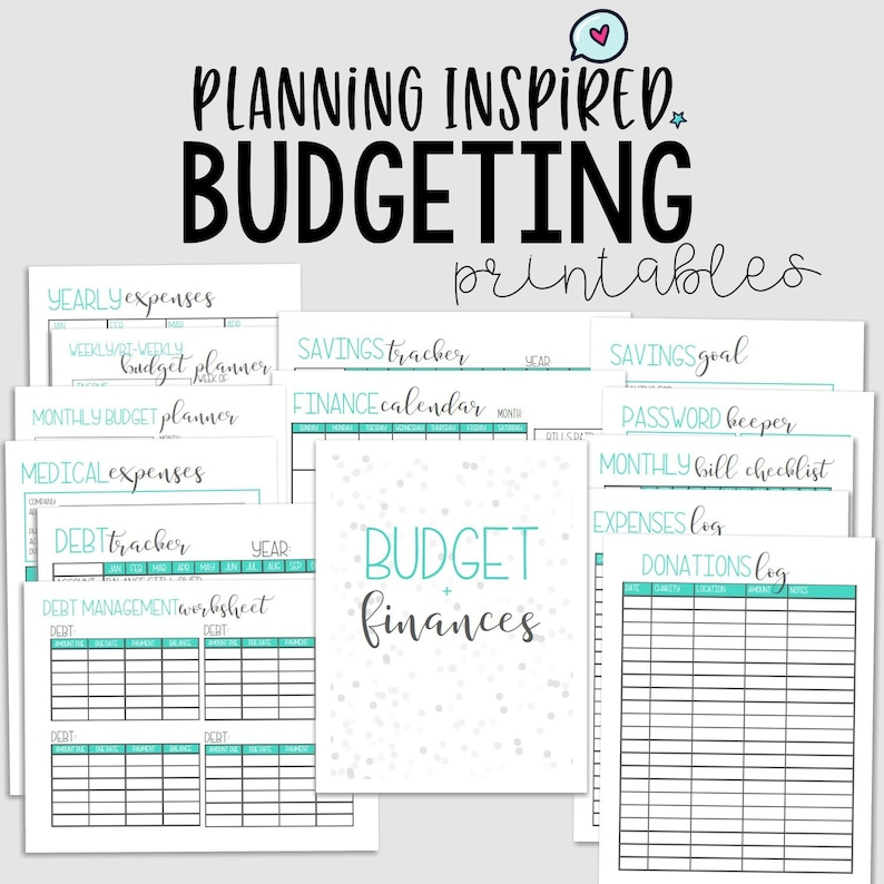 photo about Budget Printable known as Spending budget Printables, Finance Planner, PDF Printable Spending budget Planner, 14 Web pages, US Letter Dimension 50 % Letter Dimensions, Fast Down load, Editable