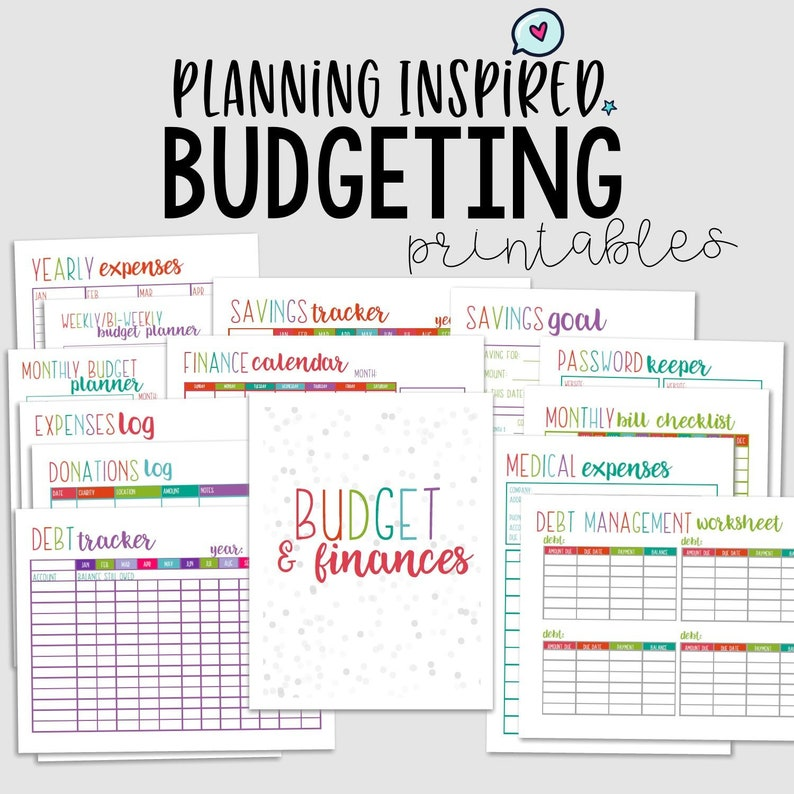 image regarding Budget Planner Printable titled Printable Price range Planner, Funds Printables, PDF Printable Finance Planner, 14 Webpages, US Letter 50 % Letter Sizing,Instantaneous Obtain,Editable