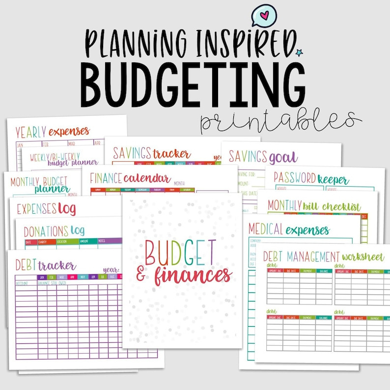 photograph regarding Printable Budget Planner titled Printable Price range Planner, Spending budget Printables, PDF Printable Finance Planner, 14 Web pages, US Letter 50 % Letter Dimension,Prompt Down load,Editable