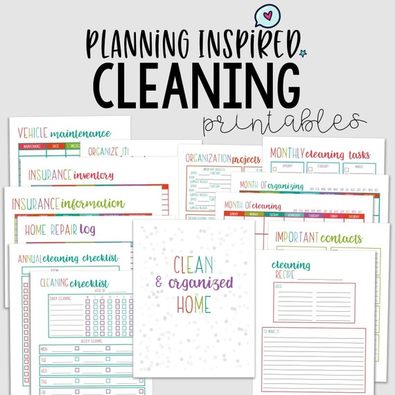 photograph relating to Printable Cleaning Checklist known as Cleansing Planner, Cleansing List, PDF Printable Cleansing Plan, 14 Internet pages, US Letter 50 % Letter Measurement, Quick Down load, Editable