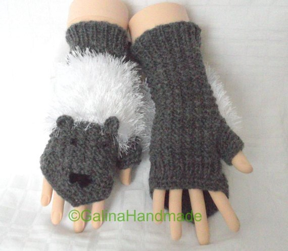 lustige maus stricken handschuhe fingerlose handschuhe frauen etsy. Black Bedroom Furniture Sets. Home Design Ideas