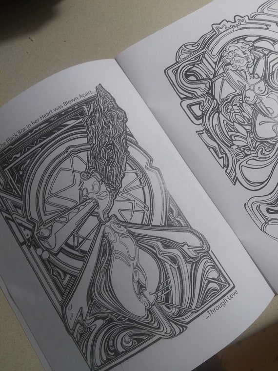 FreeThruArt 2-- 15-Page Visionary Coloring Book-- Meditation, Psychedelic  themed