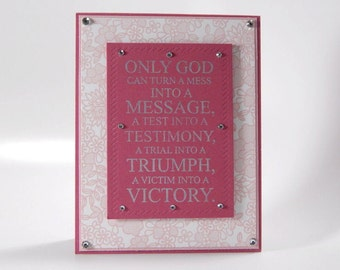 ONLY GOD Greeting Card, Blank Card and Envelope, Notecard, Encouragement Card, Christian Card, Message, Testimony, Triumph, Victory, God Can