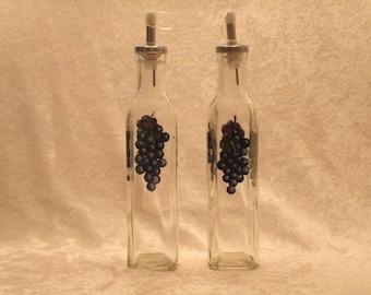 GRAPE oil and vinegar bottles