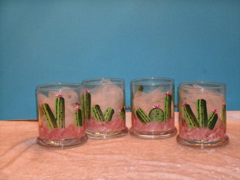CACTUS VOTIVE CUPS set of four