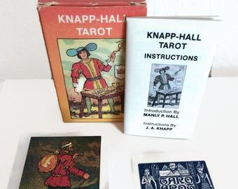 Knapp-Hall Tarot Deck Rare Tarot Decks Manly P. Hall Vintage tarot cards cartomancy esoteric studies 1985
