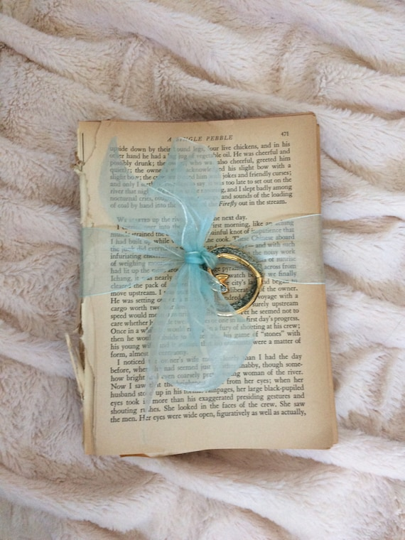 Vintage Book Pages Wedding Reception Decor Display Items Book Etsy