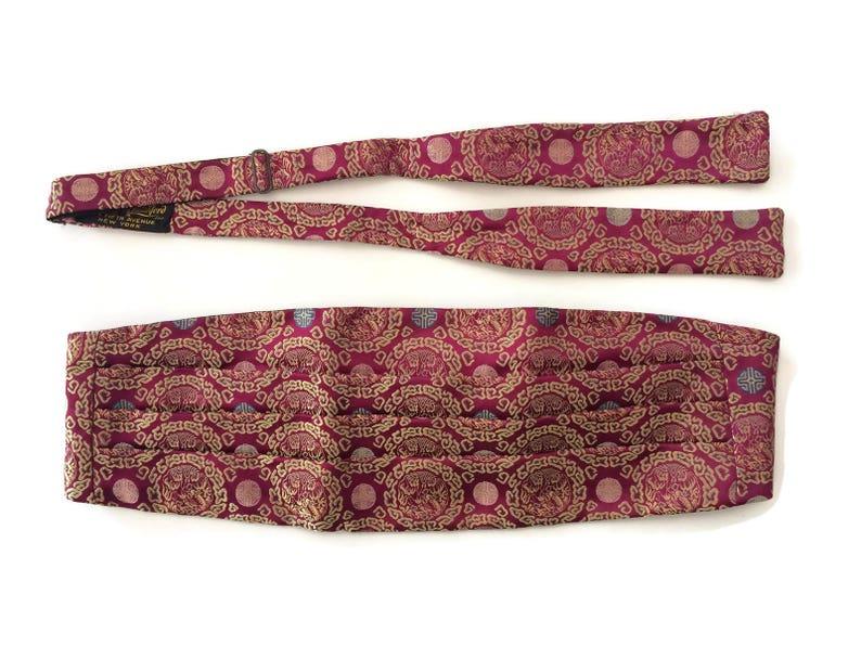 prix raisonnable meilleures baskets tout à fait stylé Gunn & Latchford cummerbund noeud papillon ensemble violet oriental soie  Vintage Mens accessoires de mode