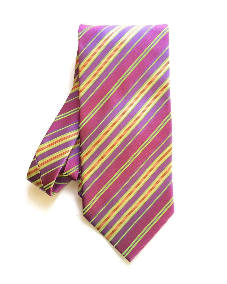 40c6ed7fbbb4 Vintage Tie Designer Purple Striped Silk necktie | Etsy