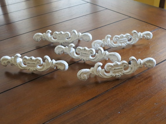 Poignees De Tiroir Chic Minable Boutons De Commode Blanc Antique