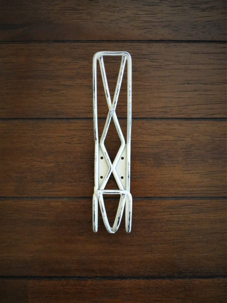 Jewelry Hook Country Vintage Decor Keys Coat Farmhouse Wall Hook  Wire Design  Antique White or Pick Color  Metal Wall Hanger  Towel