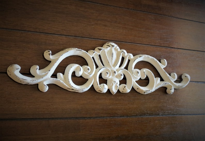 Shabby Chic Colors Style : Shabby chic scrolled wall decor antique white or pick color etsy