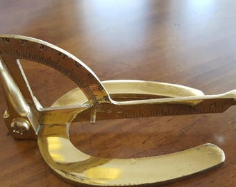 Equine Hoof Tool*Brass Hoof Gauge*Horse Hoof Tool*Farrier Tool* Hoof Measuring Tool*Equine Decor*Brass Horse Hoof Tool