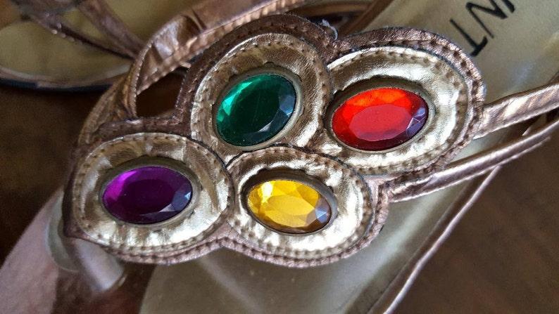 447edb5175641 Womens Jeweled ShoesBo-Ho Multi-Color StonesGold Bronze