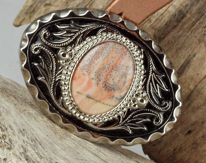 Belt Buckle - Western Belt Buckle - Agate Belt Buckle -Cowboy Belt Buckle - Boho Belt Buckle - Western Buckle - Cowgirl Belt Buckle