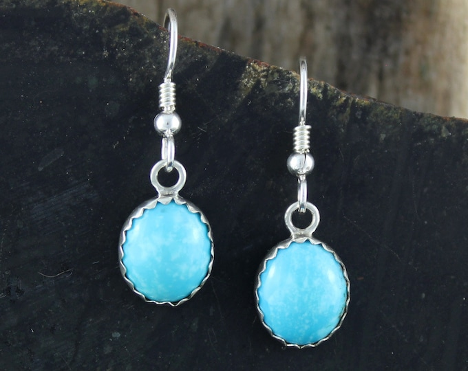 Silver Earrings -Blue Turquoise -Drop Earrings -Statement Earrings -Turquoise Earrings -Boho Earrings -Blue Stone Earrings -Dangle Earrings