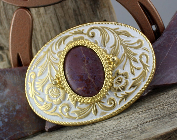 Western Belt Buckle - Cowboy Belt Buckle - Purple Jade Buckle -   Stone Belt Buckle - Unique Belt Buckle - Boho Belt Buckle - Belt Buckle-
